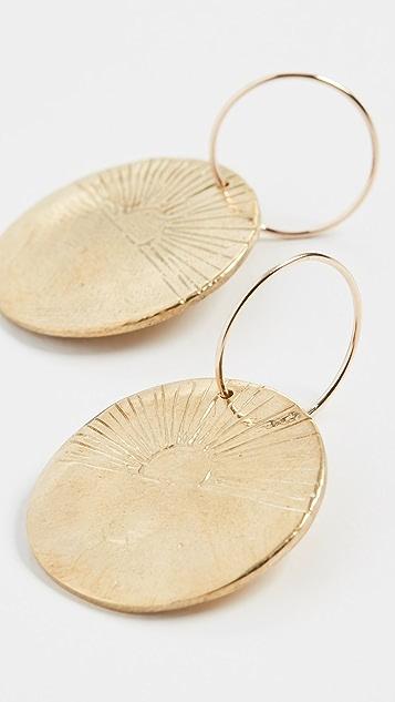 Maison Monik 日出圈式耳环