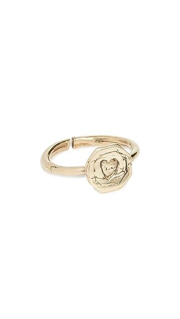 Maison Monik 心形饰牌戒指