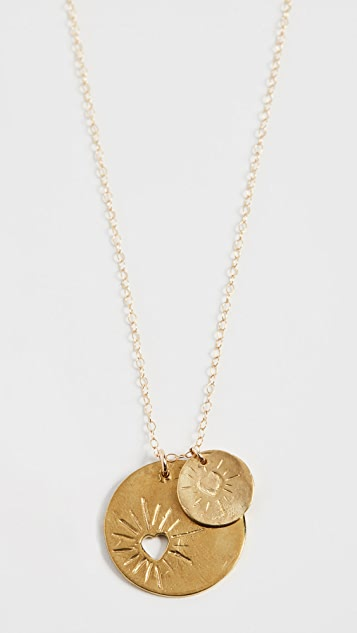 Maison Monik Double Heart Necklace