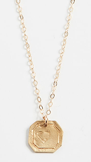 Maison Monik Heart Plate Necklace