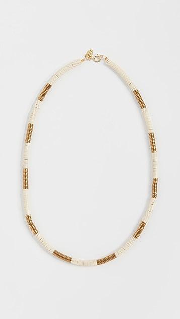 Maison Monik 象牙白和金色短项链