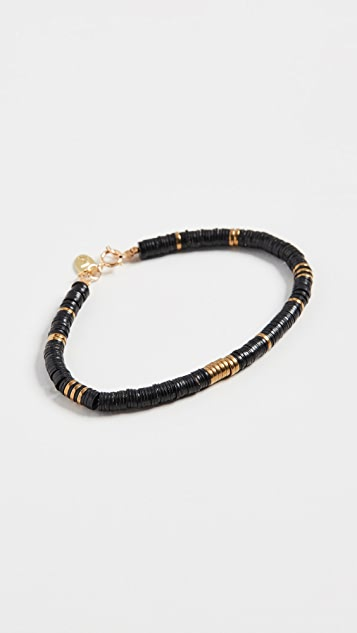 Maison Monik 黑色和金色手链