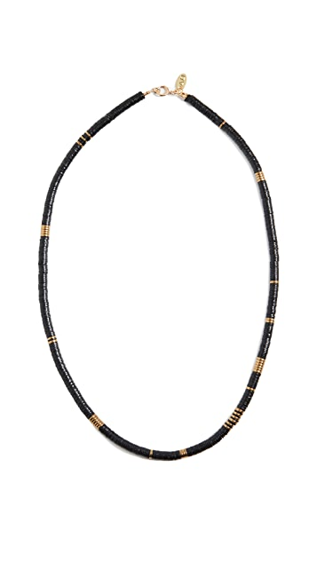 Maison Monik 黑色和金色短项链