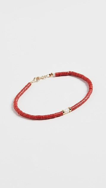 Maison Monik 红色淡水养殖珍珠手链