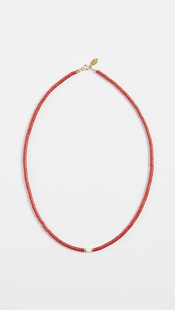 Maison Monik 红色珍珠短项链