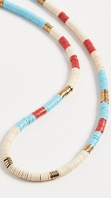 Maison Monik Blue Multi Stripe Necklace