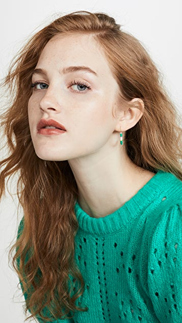 Maison Monik 绿色混色耳环