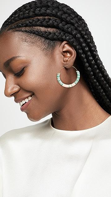 Maison Monik Ate Beaded Hoop Earrings