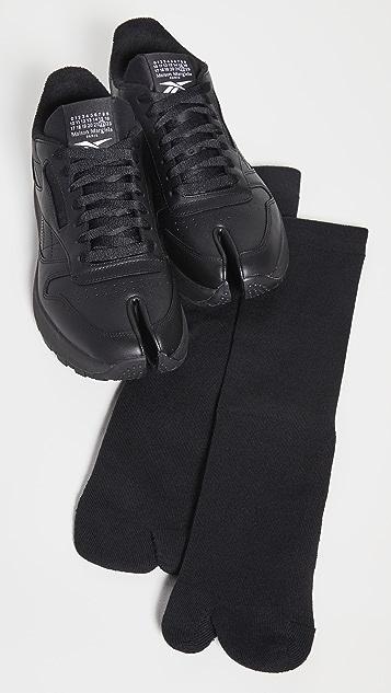 Maison Margiela x Reebok Project 0 Classic Leather Tabi Sneakers