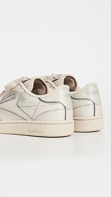 Maison Margiela x Reebok Project 0 Club C Leather Sneakers