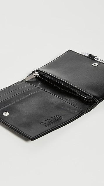 MM6 Maison Margiela Medium Metallic Pocket Book with Pencil