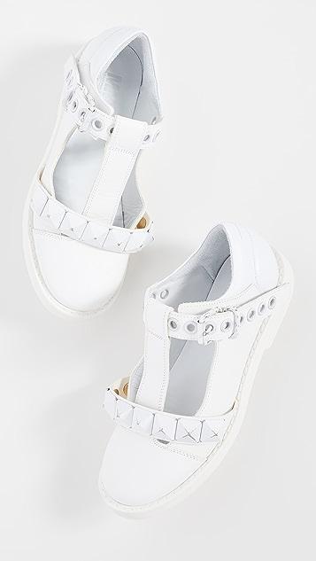 MM6 Maison Margiela 金属固定带平底鞋