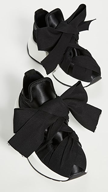 MM6 Maison Margiela 缎带系结运动鞋