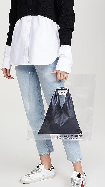 MM6 Maison Margiela Прозрачная треугольная объемная сумка с короткими ручками