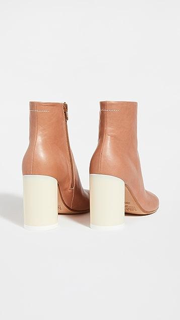 MM6 Maison Margiela Square Toe Ankle Boots