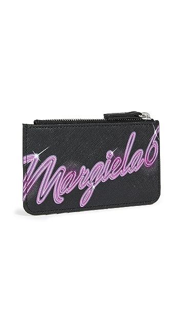 MM6 Maison Margiela 荧光色徽标卡片包