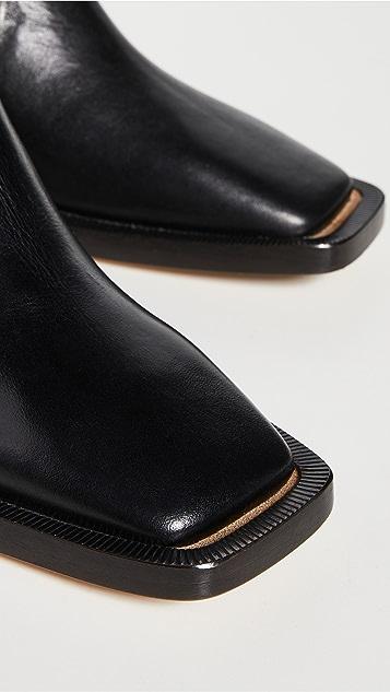 MM6 Maison Margiela 方头切尔西靴
