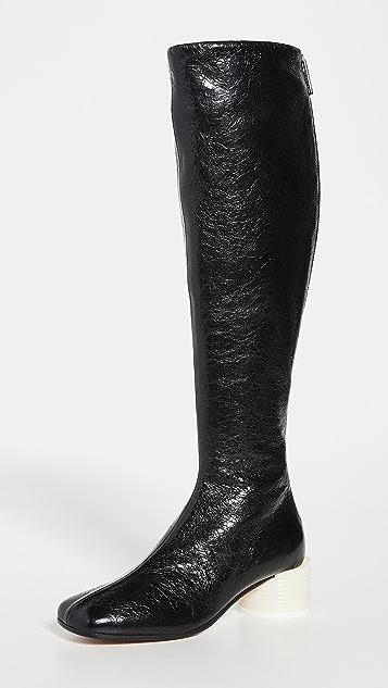 MM6 Maison Margiela Tin Can Heel Tall Boots
