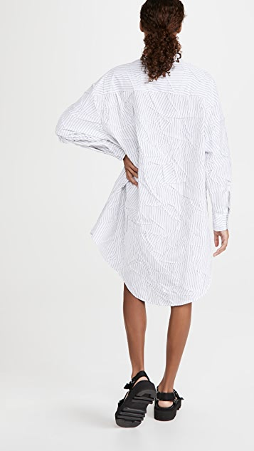 MM6 Maison Margiela Oversized Striped Shirtdress