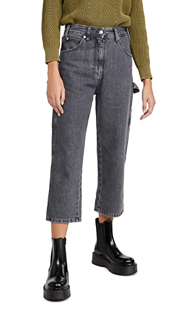 MM6 Maison Margiela Cropped Carpenter Jeans