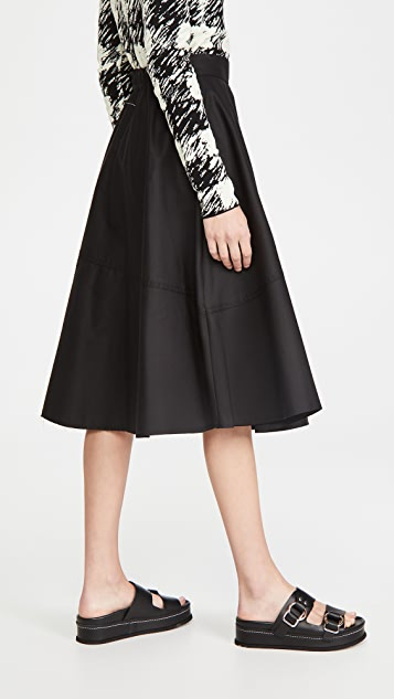 MM6 Maison Margiela Cotton Midi Skirt