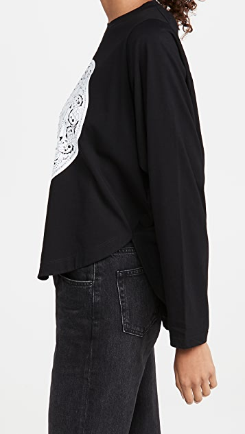 MM6 Maison Margiela Long Sleeve MM6 Medallion T-Shirt