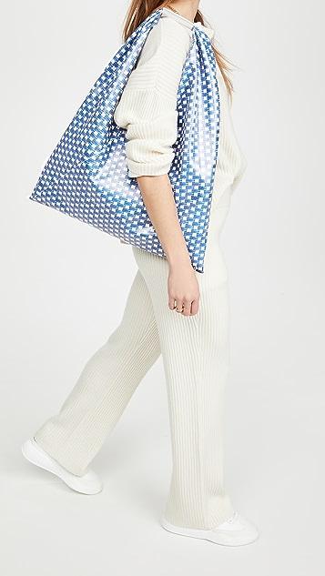 MM6 Maison Margiela 梭织设计中号三角形手提袋