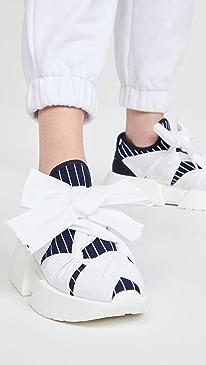 MM6 메종 마르지엘라 Maison Margiela Bow Sneakers,True Blue/White