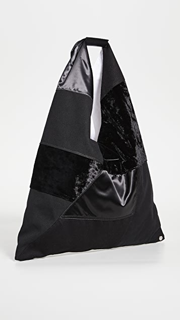 MM6 Maison Margiela 拼接经典三角形托特包
