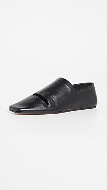 MM6 Maison Margiela Cutout Mocassino Flats