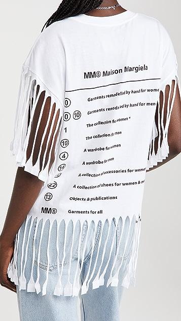 MM6 Maison Margiela Fringe T-Shirt