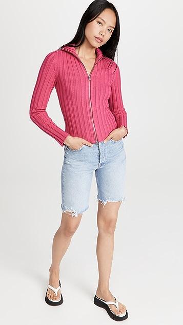 MM6 Maison Margiela Ribbed Zip Sweater
