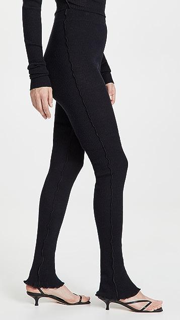 MM6 Maison Margiela 罗纹针织长裤