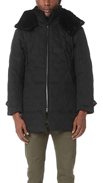 Monitaly Herringbone Cotton Quilted Work Jacket