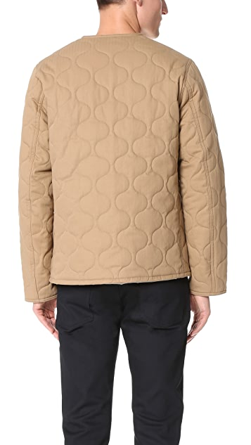 Monitaly Herringbone Cotton Quilted Utility Jacket
