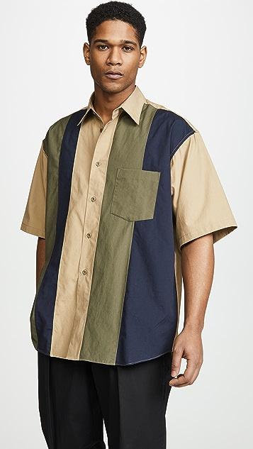 Monitaly Half Sleeve Paneled Shirt