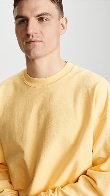 Monitaly Cropped Crew Neck Sweatshirt