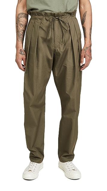 Monitaly Drop Crotch Vancloth Oxford Pants