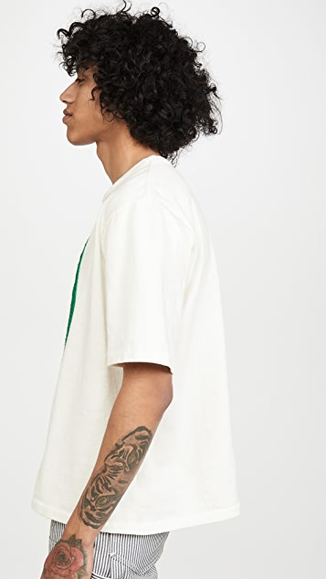 Monitaly Embroidered Avocado T-Shirt