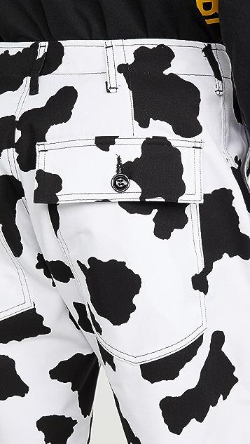 Monitaly Cow Print Fatigue Shorts