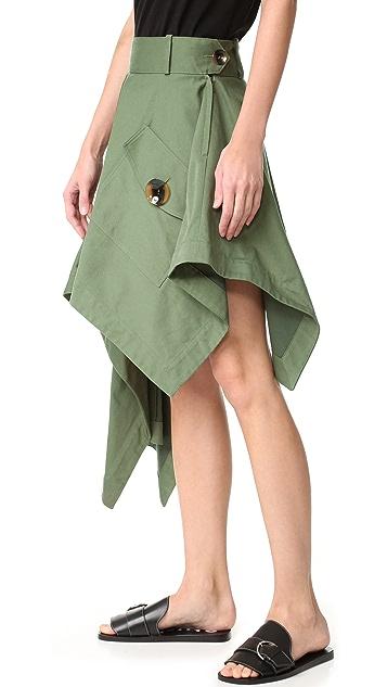 Monse Asymmetrical Skirt