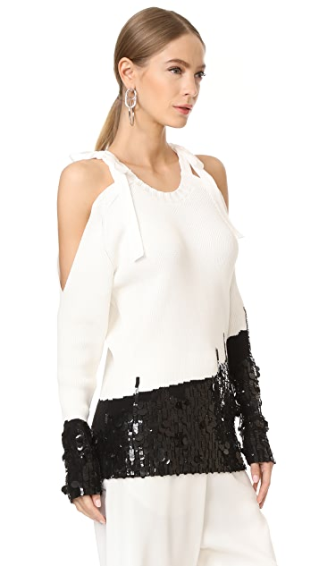 Monse Cold Shoulder Sweater