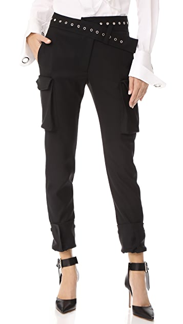 Pantalon Cargo Smoking - Monse Noir B4ZwkX93tg