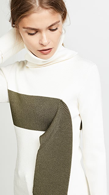 Monse Turtleneck with Falling Stripe