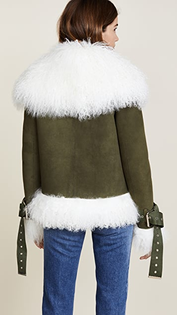 Monse Suede Shearling Bomber Jacket