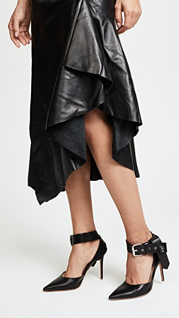Monse Leather Skirt