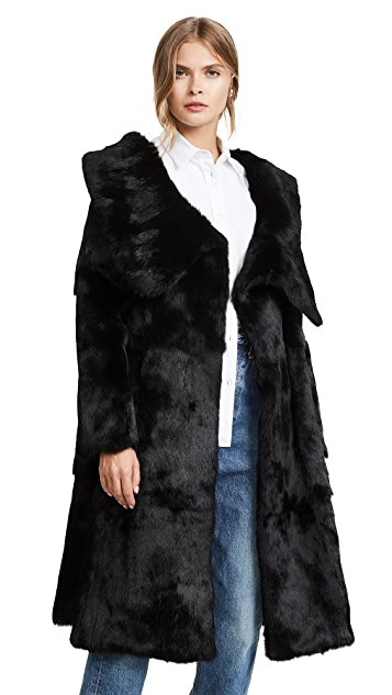 Monse Rabbit Fur Coat
