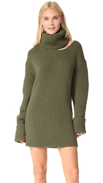 Monse Cutout Turtleneck Dress