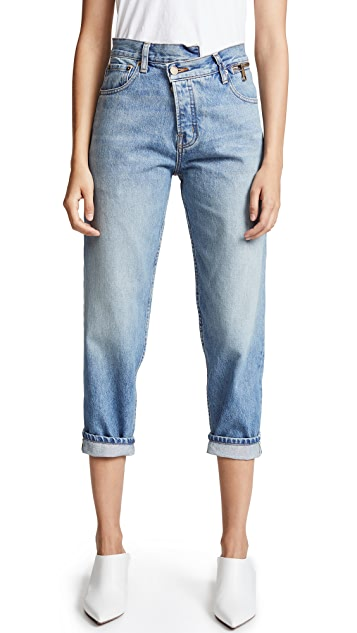 Monse Zip Waist Dad Jeans
