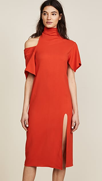 Monse Bow Collar Dress - Red